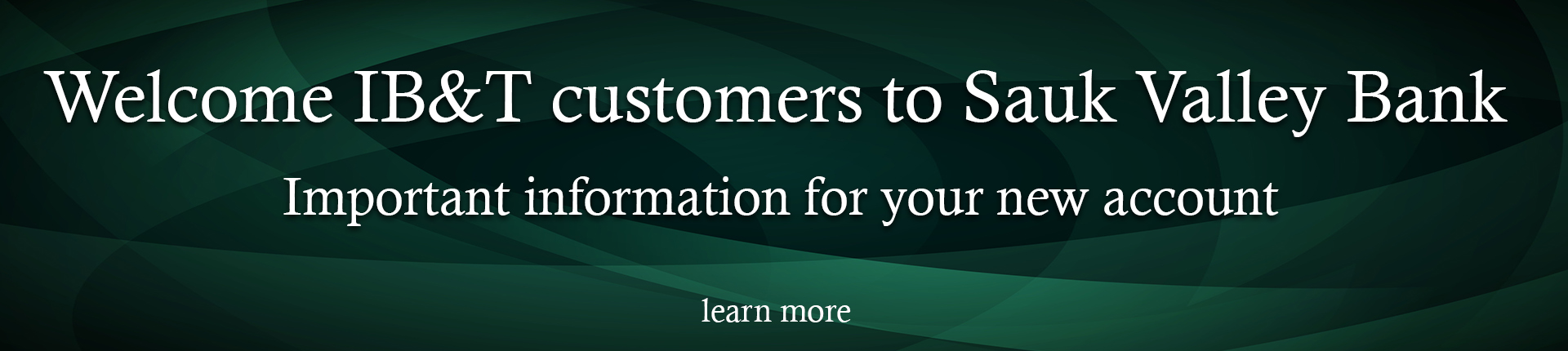 Account information for your new account