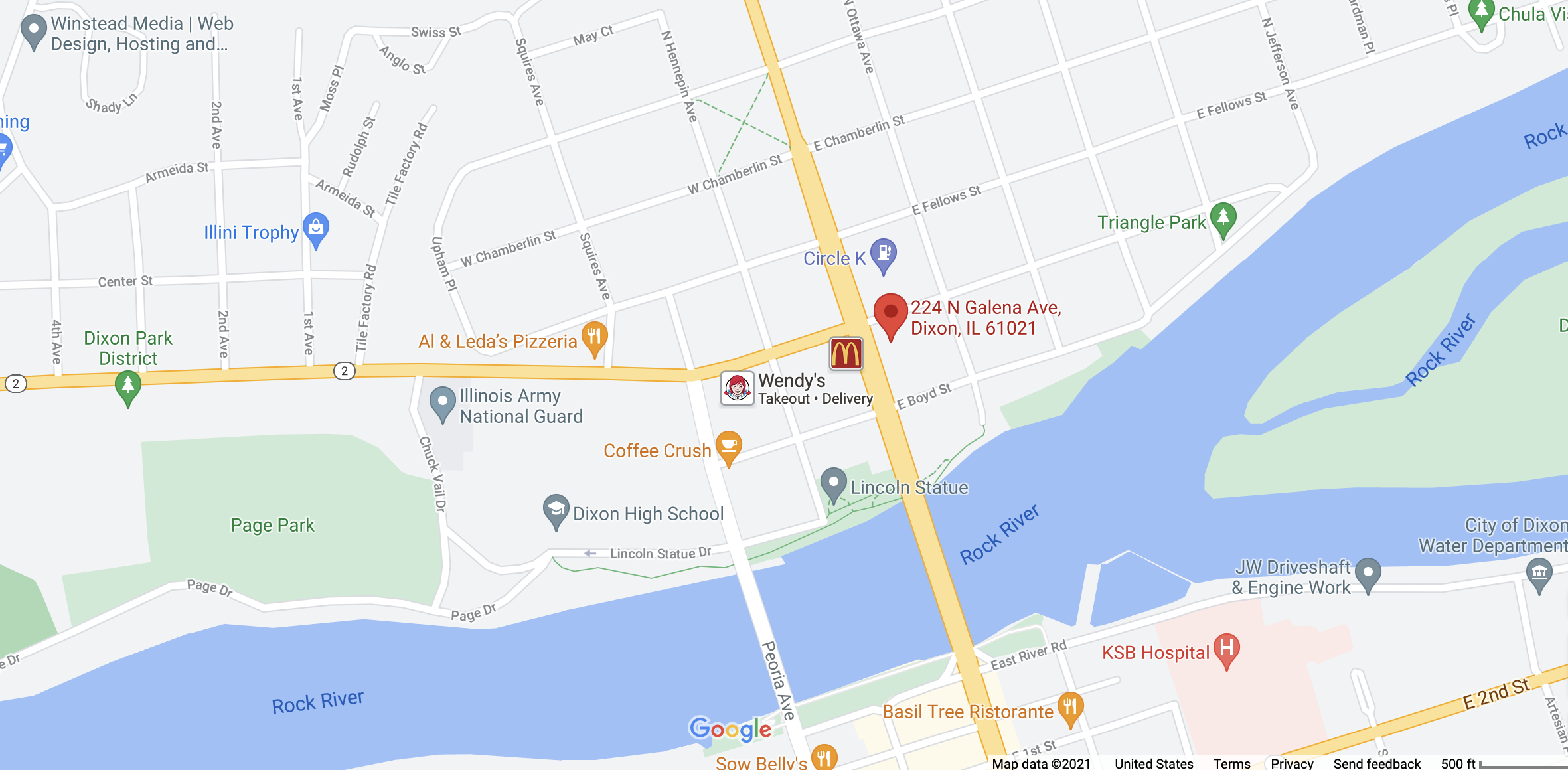 Google Map for this location.